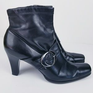 Franco Sarto buckle ankle boots